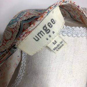 Umgee Dresses - Umgee Embroidered Boho Swing Dress Size Medium